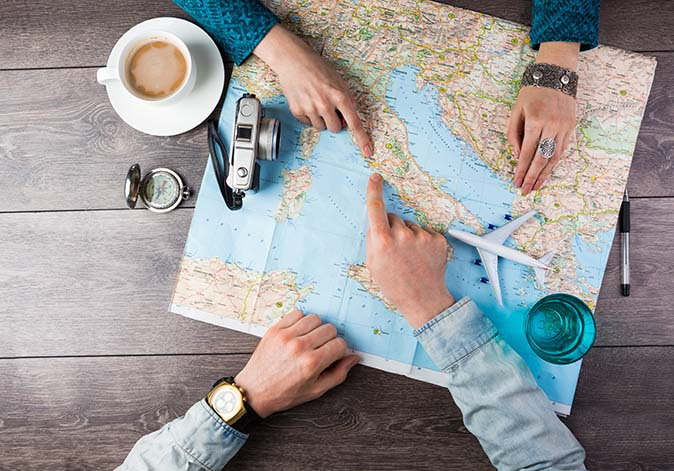 Key travel actions when travelling abroad